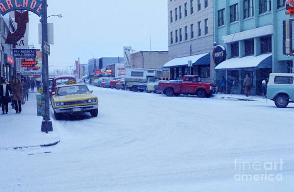 Photograph - 2nd Street Fairbanks Alaska 1969 by California Views Archives Mr Pat Hathaway Archives