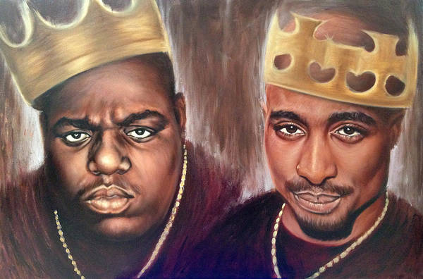 Big Small Painting - 2pac And Notorious Big by Travis Knight