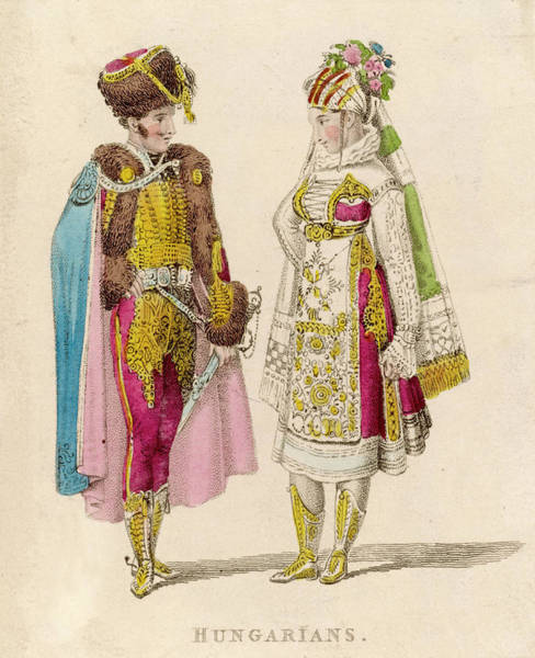 Wall Art - Drawing -  Bride And Groom         Date Circa 1820 by Mary Evans Picture Library
