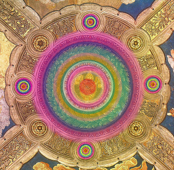 Painting -  Ceiling Of The Stanza Di Eliodoro.detail by Augusta Stylianou