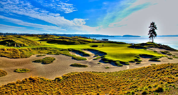 David Patterson Photograph - #15 At Chambers Bay Golf Course - Location Of The 2015 U.s. Open Tournament by David Patterson