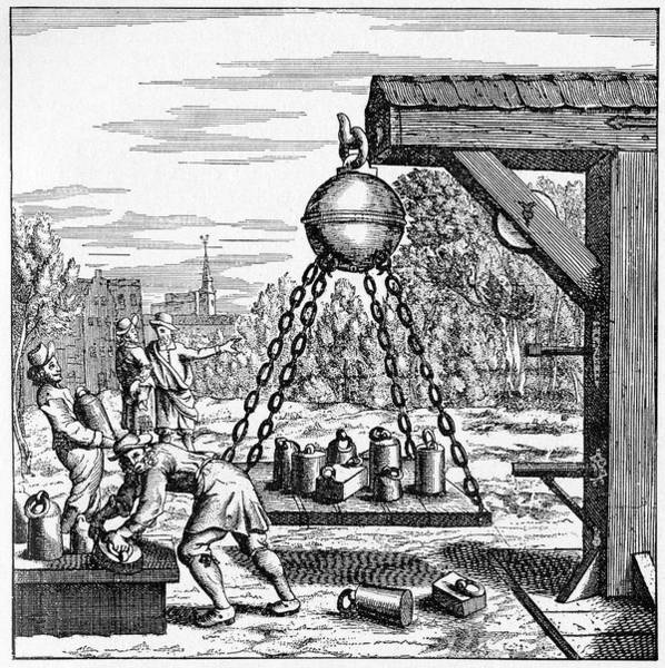 17th Century Vacuum Experiment Art Print by Cci Archives