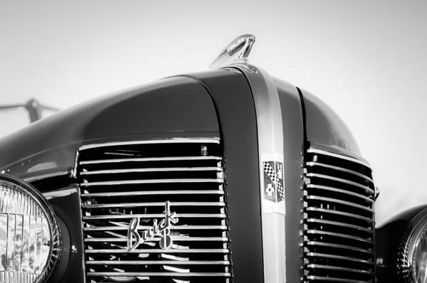 Photograph - 1937 Buick Boattail Roadster Grille Emblems by Jill Reger
