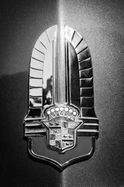 Photograph - 1941 Cadillac Emblem by Jill Reger