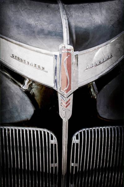 Studebaker Photograph - 1941 Studebaker Champion Hood Emblem by Jill Reger