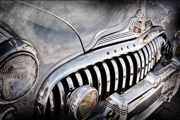 1947 Photograph - 1947 Buick Eight Super Grille Emblem by Jill Reger