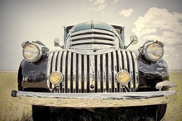 Old Chevy Photograph - 1947 Suburban by Rudy Umans