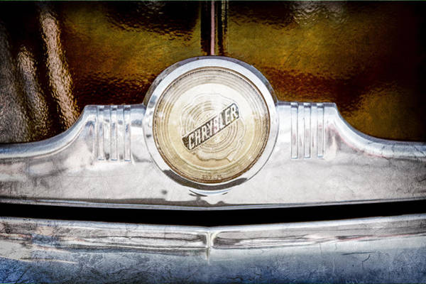 Windsor Wall Art - Photograph - 1949 Chrysler Windsor Grille Emblem by Jill Reger
