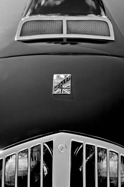 Healey Photograph - 1950 Healey Silverston Sports Roadster Emblem by Jill Reger