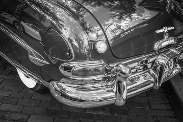 Photograph - 1952 Hudson Hornet 4 Door Sedan Twin H Power Painted Bw  by Rich Franco