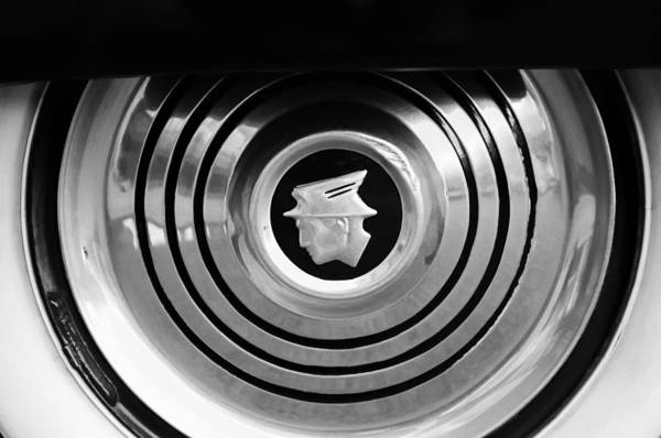 Photograph - 1953 Mercury Monterey Wheel Emblem by Jill Reger