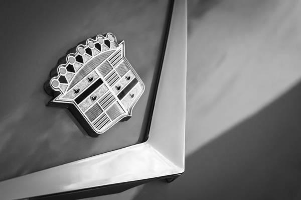 Photograph - 1954 Cadillac Coupe Deville Emblem by Jill Reger
