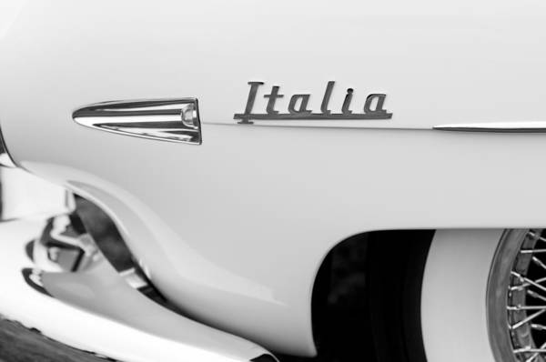 Photograph - 1954 Hudson Italia Touring Coupe Emblem by Jill Reger