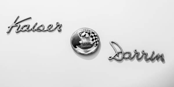 Photograph - 1954 Kaiser-darrin Roadster Emblem by Jill Reger