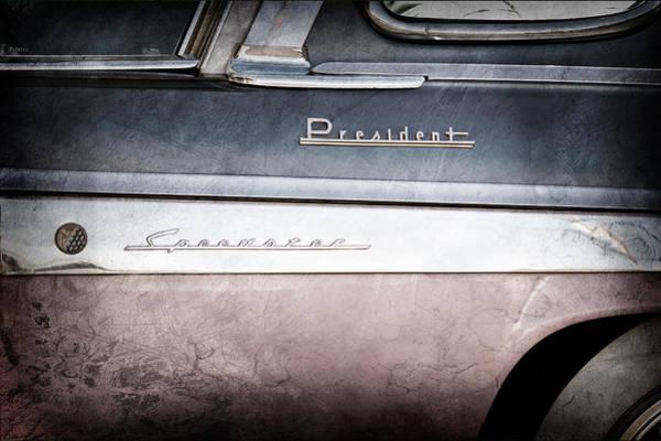 Studebaker Photograph - 1955 Studebaker President Emblems by Jill Reger