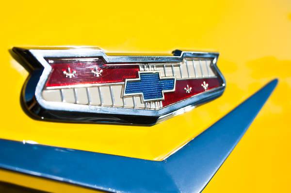 1956 Chevy Wall Art - Photograph - 1956 Chevrolet Belair Emblem by Jill Reger