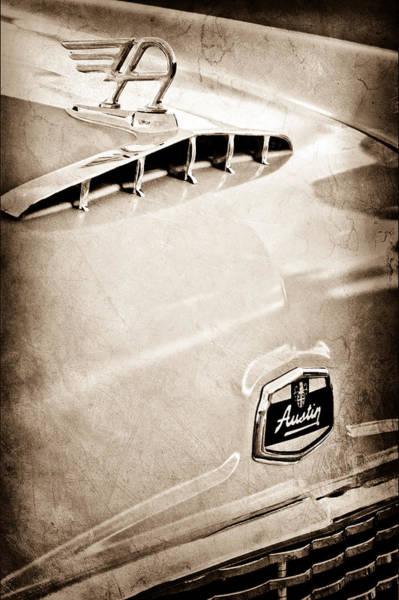 Photograph - 1957 Austin Cambrian 4 Door Saloon Hood Ornament by Jill Reger