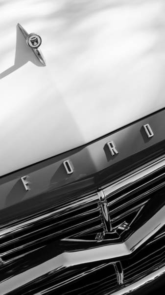 Photograph - 1957 Ford Custom 300 Series Ranchero Hood Ornament - Emblem by Jill Reger