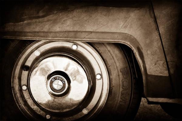 Photograph - 1958 Bmw Isetta 300 Wheel Emblem by Jill Reger