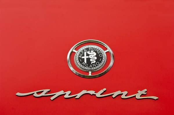 Auto Show Photograph - 1959 Alfa Romeo Giulietta Sprint Emblem by Jill Reger