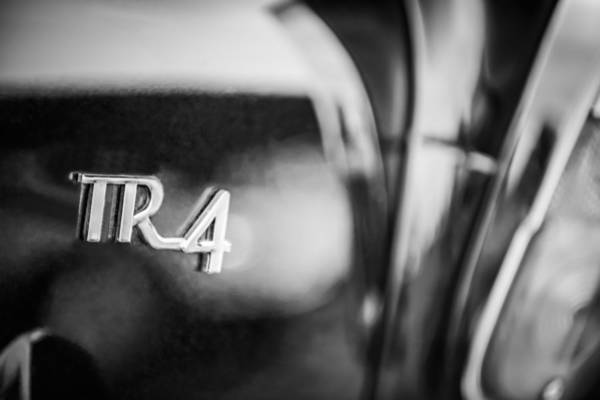 Photograph - 1962 Triumph Tr-4 Taillight Emblem by Jill Reger