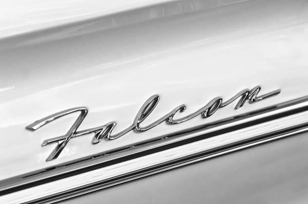 Falcons Photograph - 1963 Ford Falcon Futura Convertible   Emblem by Jill Reger