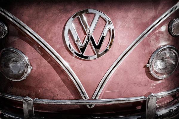 Photograph - 1964 Volkswagen Vw Double Cab Emblem by Jill Reger