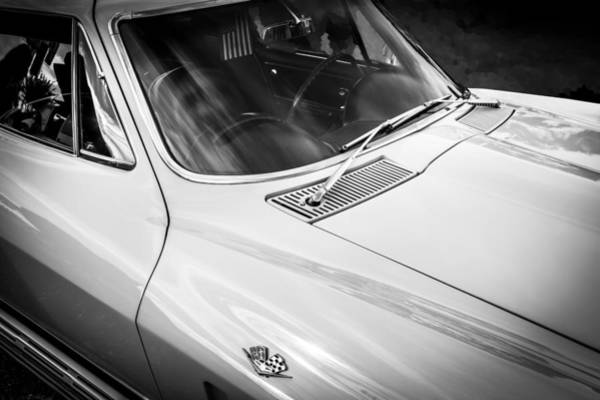Photograph - 1965 Chevrolet Corvette Sting Ray Coupe Bw by Rich Franco