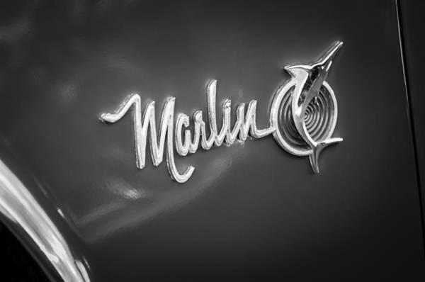 Photograph - 1965 Rambler Marlin Emblem by Jill Reger