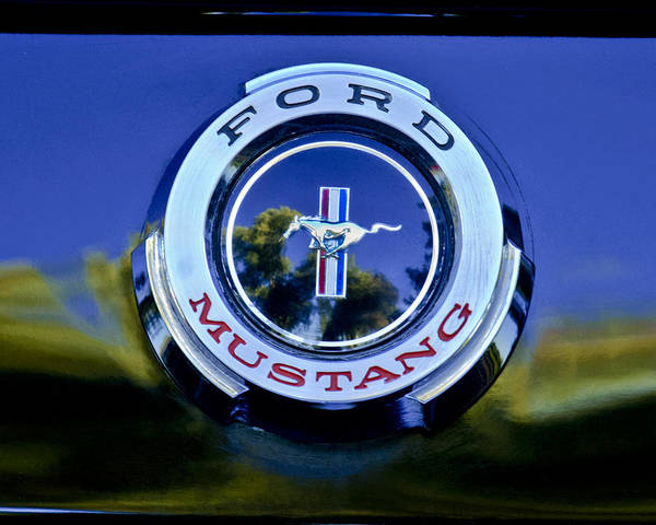 Ford Mustang Photograph - 1965 Shelby Prototype Ford Mustang Emblem by Jill Reger