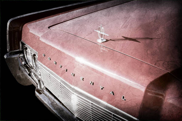 Wall Art - Photograph - 1967 Lincoln Continental Hood Ornament - Emblem by Jill Reger
