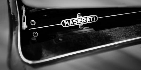 Photograph - 1967 Maserati Ghibli Ss-specification Coupe Engine Emblem by Jill Reger