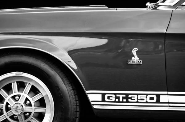 Photograph - 1968 Shelby Gt350 Side Emblem by Jill Reger
