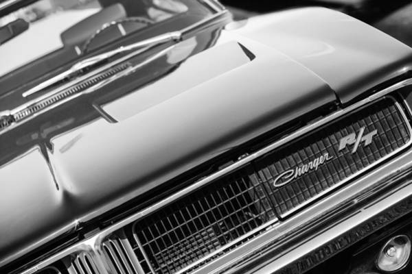 R Photograph - 1969 Dodge Charger R-t Emblem by Jill Reger