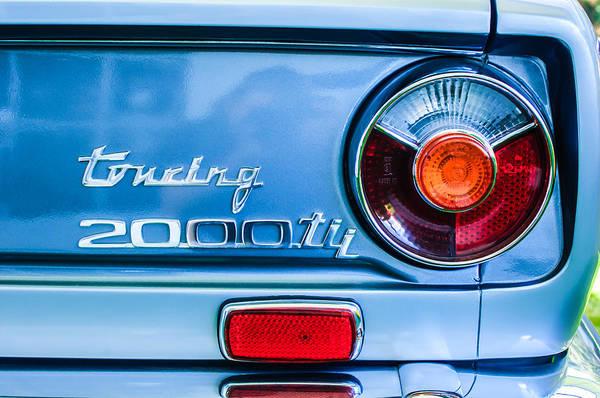 1972 Photograph - 1972 Bmw 2000 Tii Touring Taillight Emblem -0182c by Jill Reger