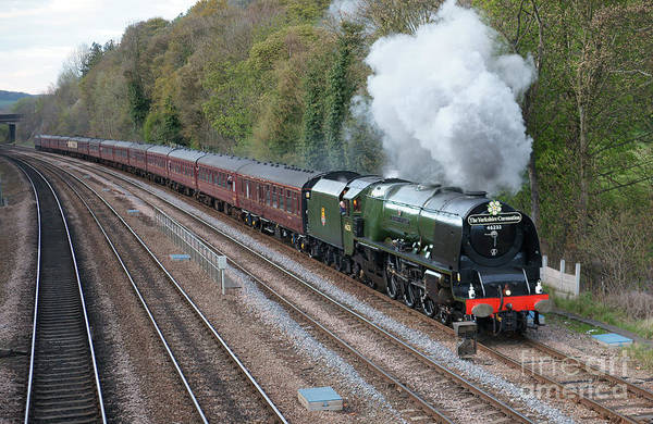 Photograph - 46233 Duchess Of Sutherland At Work by David Birchall