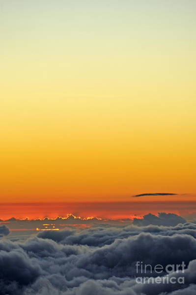 Wall Art - Photograph - Above Cloudscape At Sunset by Sami Sarkis