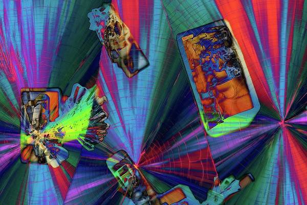 Merge Wall Art - Photograph - Abstract Polarised Light Micrographs by Steve Lowry