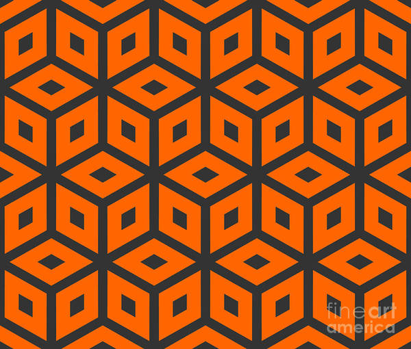 Bright Digital Art - Abstract Retro Pattern. Vector by Artsandra
