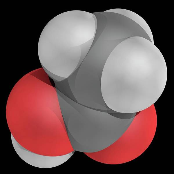 Wall Art - Photograph - Acetic Acid Molecule by Laguna Design/science Photo Library