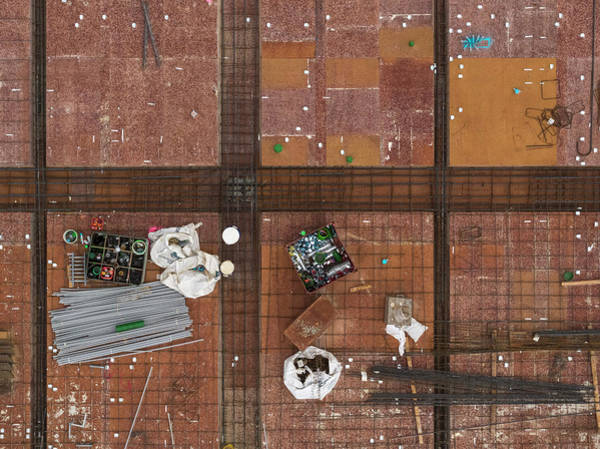 Wall Art - Photograph - Aerial View Of Construction Site by Peter Essick