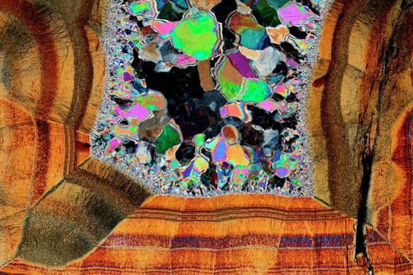 Geodes Photograph - Agate. Polarised Light Micrograph by Antonio Romero