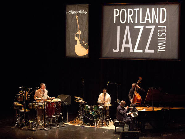 Photograph - 3 Ahmad Jamal Pdx Jazz Fest 21feb14 by Lee Santa