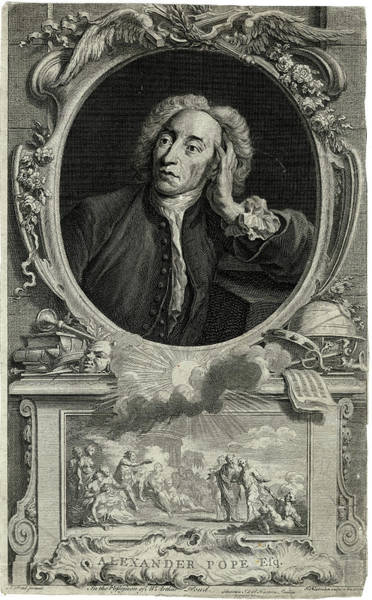 Wall Art - Drawing - Alexander Pope  Writer        Date 1688 by Mary Evans Picture Library