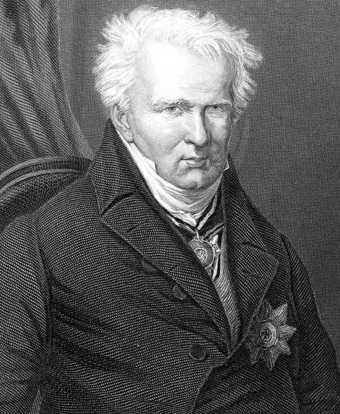 Wall Art - Drawing - Alexander Von Humboldt  German by Mary Evans Picture Library