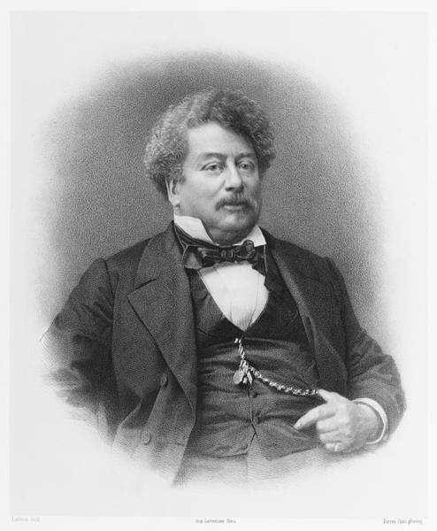 Wall Art - Drawing - Alexandre Dumas (pere)  French Writer by Mary Evans Picture Library