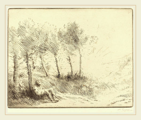 Wall Art - Drawing - Alphonse Legros, Landscape Paysage, French by Litz Collection