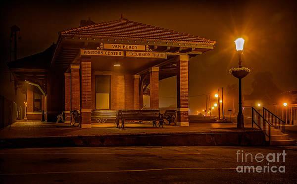 Photograph - 3 Am Train by Larry McMahon