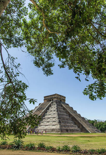 Chichen Itza Photograph - Ancient Step Pyramid Kukulkan by Jerry Ginsberg
