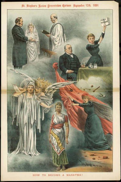 Wall Art - Drawing - Annie Besant  English Theosophist by Mary Evans Picture Library